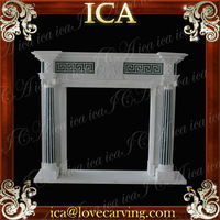 Cheap Fireplace Mantel French Style Marble