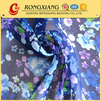 China Manufacturer polyester digital printed flower chiffon dress fabric