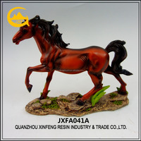 Resin artificial horse figurine for wholesale