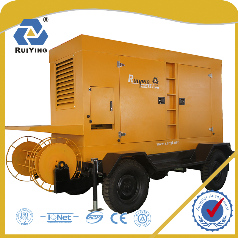 200kw 250kva trailer power station diesel generator with canopy
