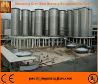 High quality stainless steel 304 industrial beer brewing equipment with engineer available to service machinery overseas