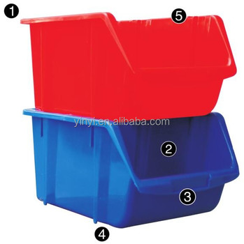 Plastic storage tool box,combination boxes,stackable bins Plastic PP storage tool bin box (1010130)