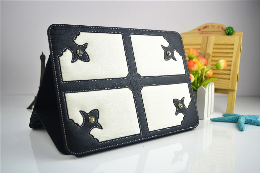 Europe style luxury leather holder design covers for tablet