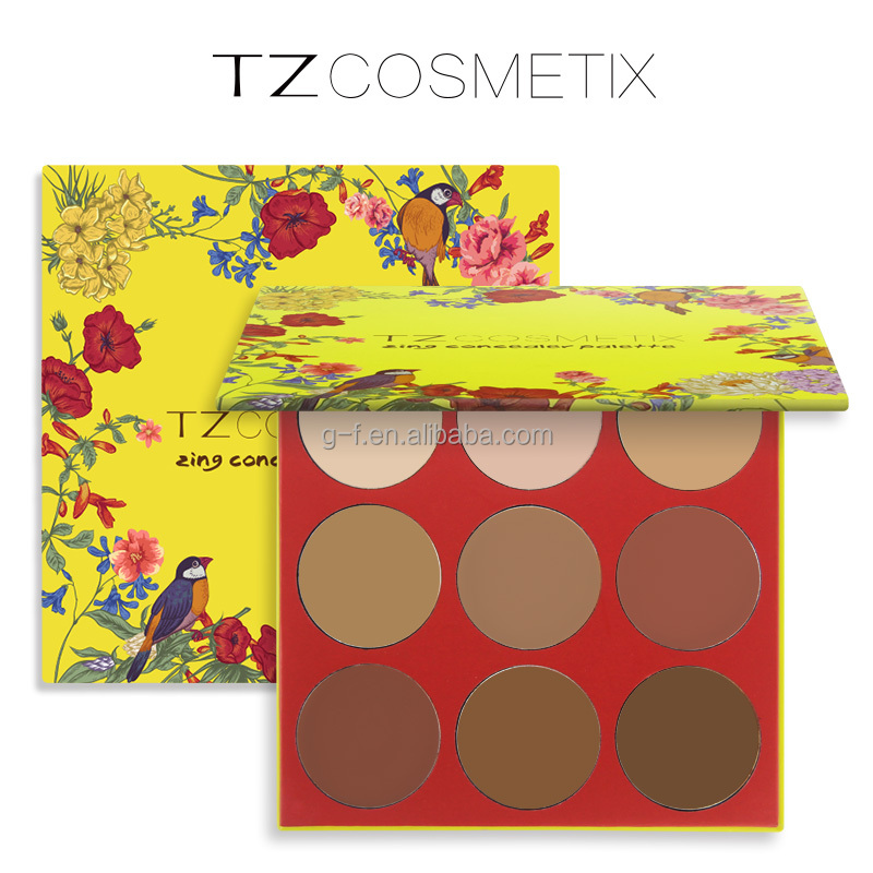 Private label cosmetics TZ 9colors Makeup Concealer 9 Color Concealer Palette Make up Contour