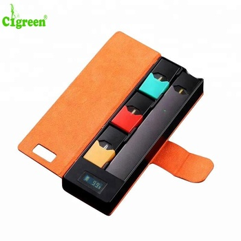 Cigreen Wholesale Products PCC Charging box For JUUL E-cigarette Vape Pen Carry Case