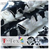 fashion new blacke white pattern high quality butterfly bulk sale wholesale soft lace fabric for ladies girls dress