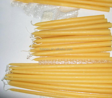 Natural Pure Beeswax Taper Candles