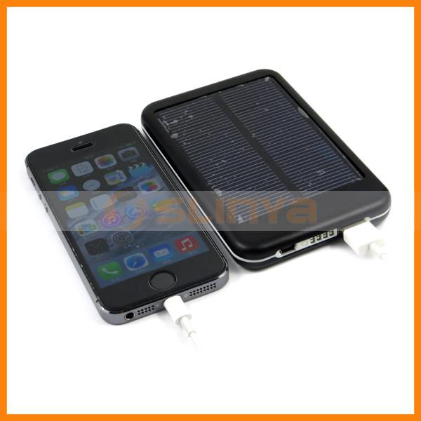 5000mah Phone Charger Dual USB Solar Backup Battery for iPhone 4
