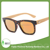Eco-friendly polarized natural color wooden bamboo sunglasses