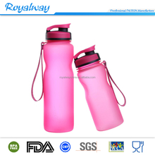 Sedex 4 pillar manufacture 32oz Tritan water bottle with rubber painting surface, outdoor sport water bottle unbreakbable