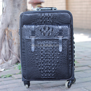 Heyco custom luxury black exotic animal alligator skin luggage