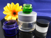 Good quality cosmetics empty jar 30ml small glass cream gel container