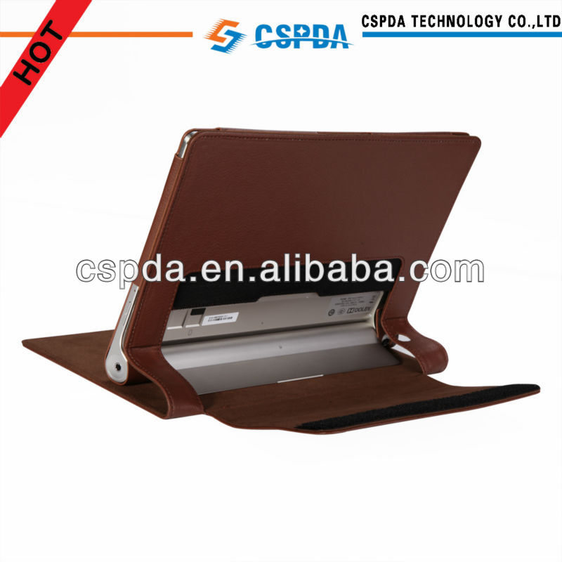 Luxury designed leather stand case for Lenovo Yoga Tablet <strong>10</strong>