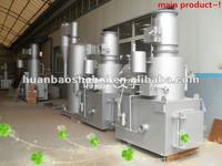 low cost, high heat diesel oil burner, for solid waste incineration for hospital