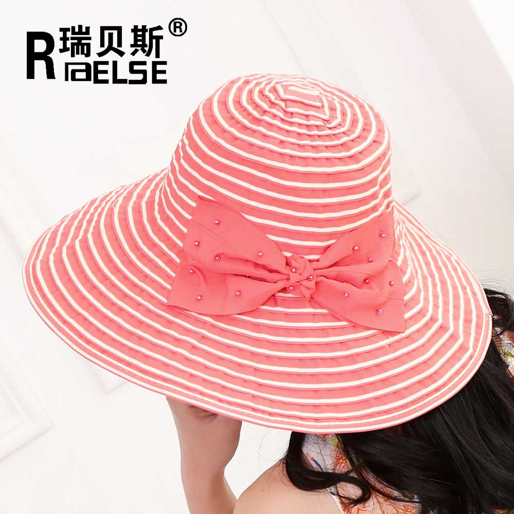 wholesale sun ladies fashion bucket cheap summer hats for promotion foldable