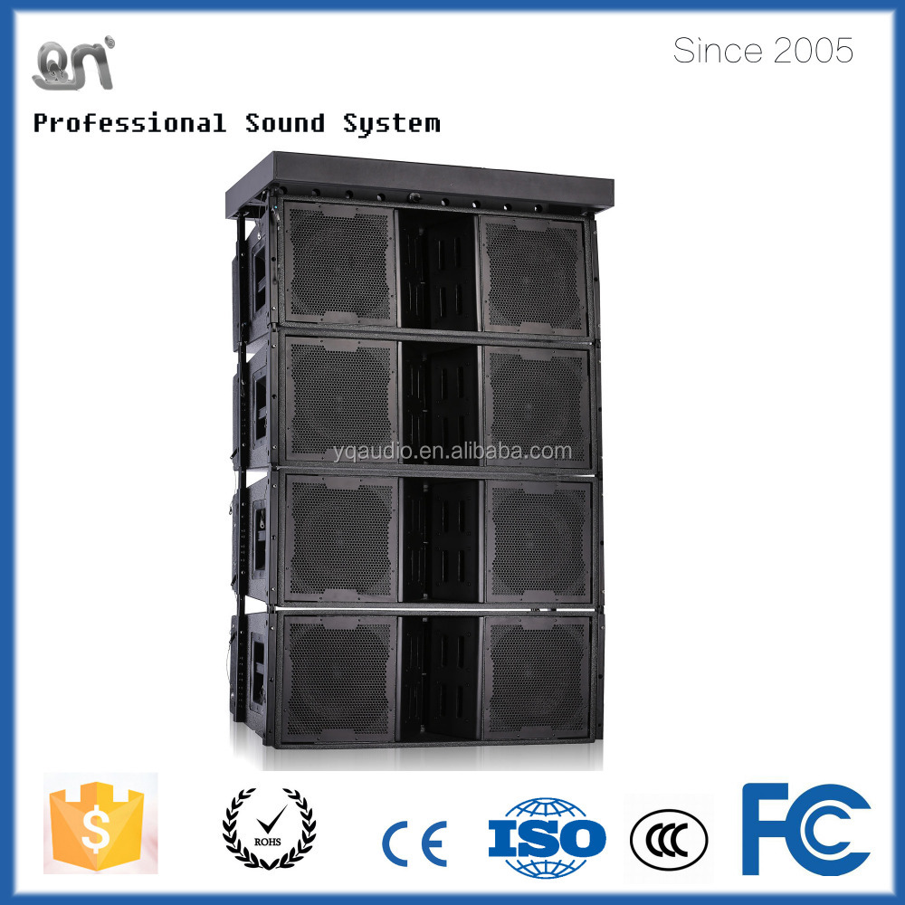 1200w dual 12-inch 3-way line array sound system speaker box