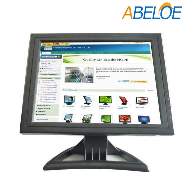 shenzhen 15 inch square tft lcd wall mounted dual compute hdmi monitor