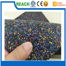 2017 New Environmental Protection Product Good Quality 1- 12 mm Rubber Recycled Tire Flooring