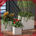 Wholesales PE white plastic flower planter for flowers and plants