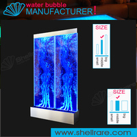 Combine big panel water bubble screen, floor standing room divider,movable panel dountian