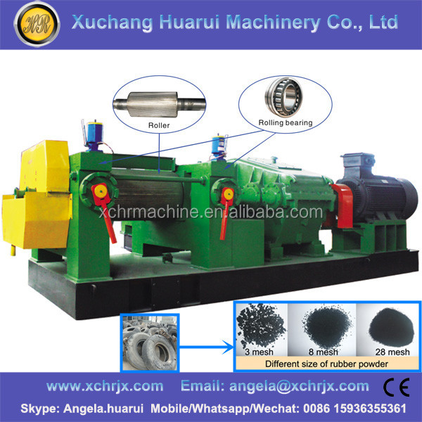 XKP350/400/450/560/560L Used tire recycling machine / Tire crusher / Crumb rubber plant