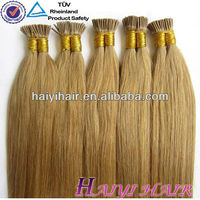 Hot Sale Soft Remy Double drawn remy Pre glued hair extension