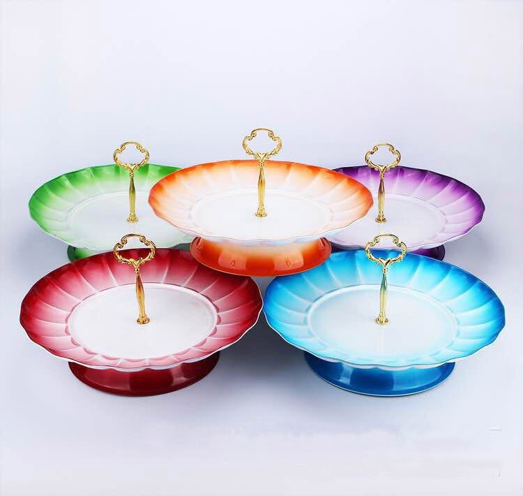 colorful charger plates wedding plates fruit plate candy tray
