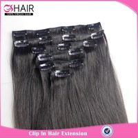 Full head cheap clip in human hair extensions for black women