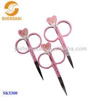 stainless steel 3pcs cute lucky cuticle scissors printed angel