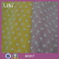 Lita M1017 colorful heart design functional lace fabric for tutu dress