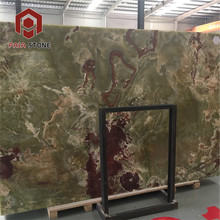 Quality Factory Polished Marble Stone Green Onyx slab Price In Dubai