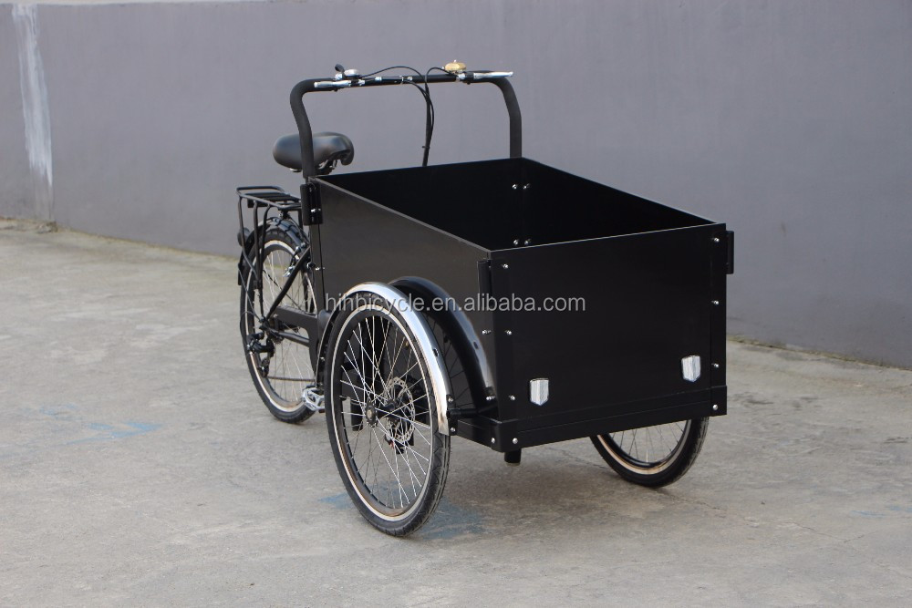 Chain drive transmission system and clean energy reverse trike cargo bike for sale