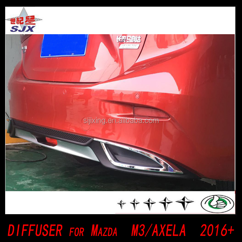 Car parts ABS unpainted rear lip for mazda 3 axela diffuse use Mazda AXLER 2014 2015 2016 spoiler bodykit wonder viosr