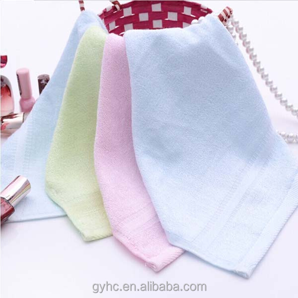 made in China customized face towel thin 100% bamboo fiber cloth
