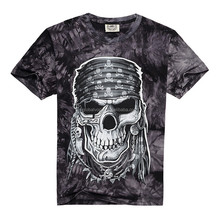 New <strong>Design</strong> Men's Fashion Hole Head 3D Printed Short Sleeve Tshirt