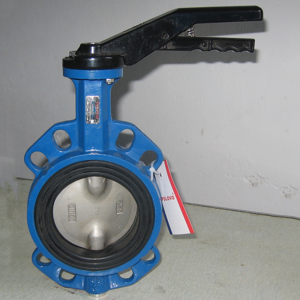 lever operated ductile iron butterfly valve with VITON seat