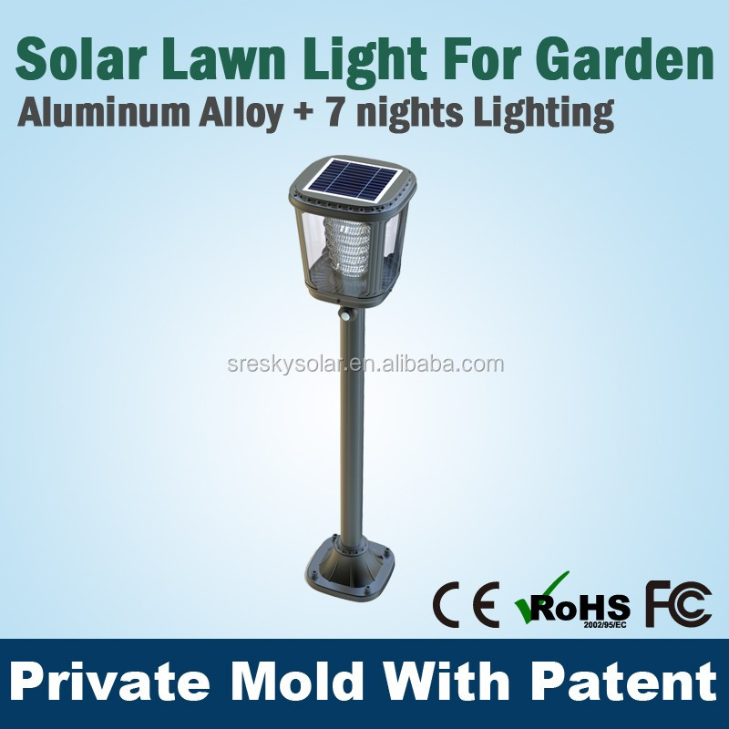 Outdoor Standing Led Solar Powered Garden Lamp Ip65,Copper Garden Lights