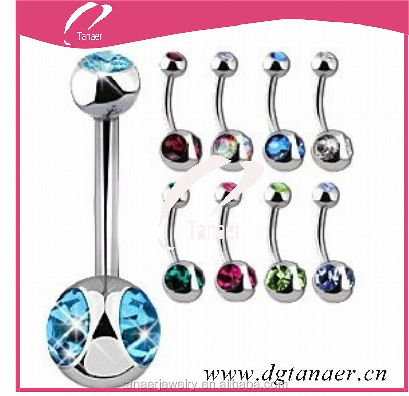 oem jewelry factory 316L Stainless steel Jewelry Belly Rings Navel Button Ring