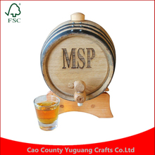 Custom Volume Gift Personalized Logo 1 Liter 2L 5L Oak Whiskey wooden wood Barrel