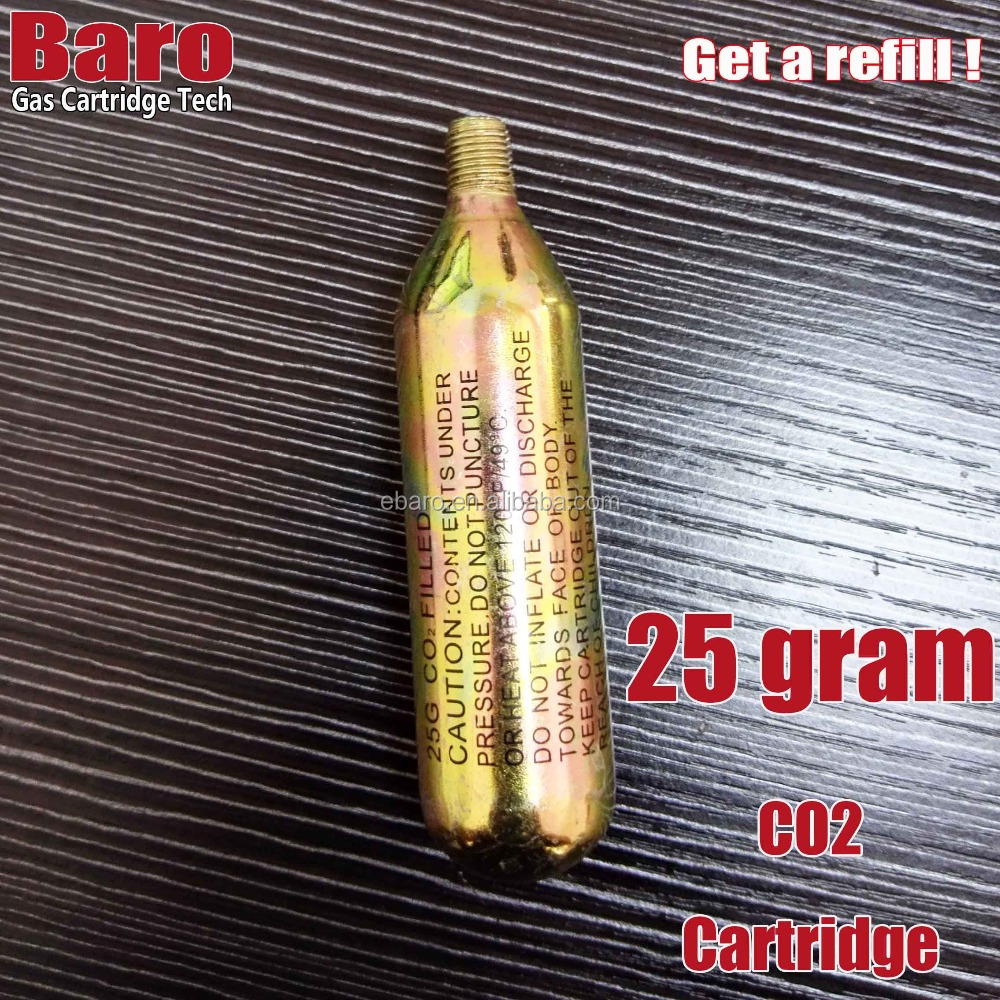 25 Gram CO2 Disposable Cartridges by Baro