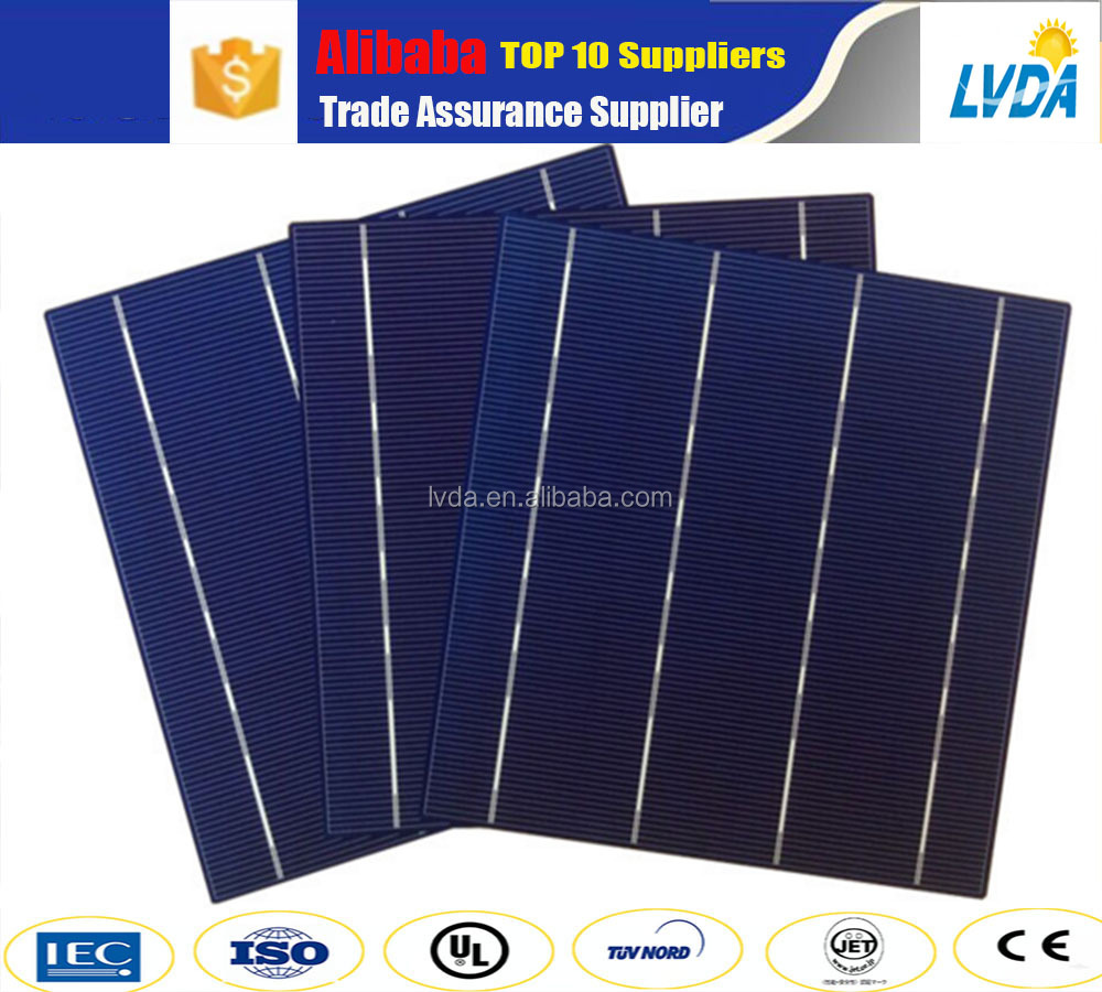 High efficiency photovoltaic poly 156*156 solar cells for sale