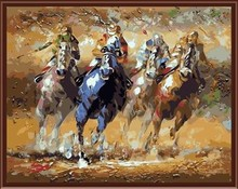 running horse paint by numbers yiwu wholesales paint boy canvas painting kit GX6840