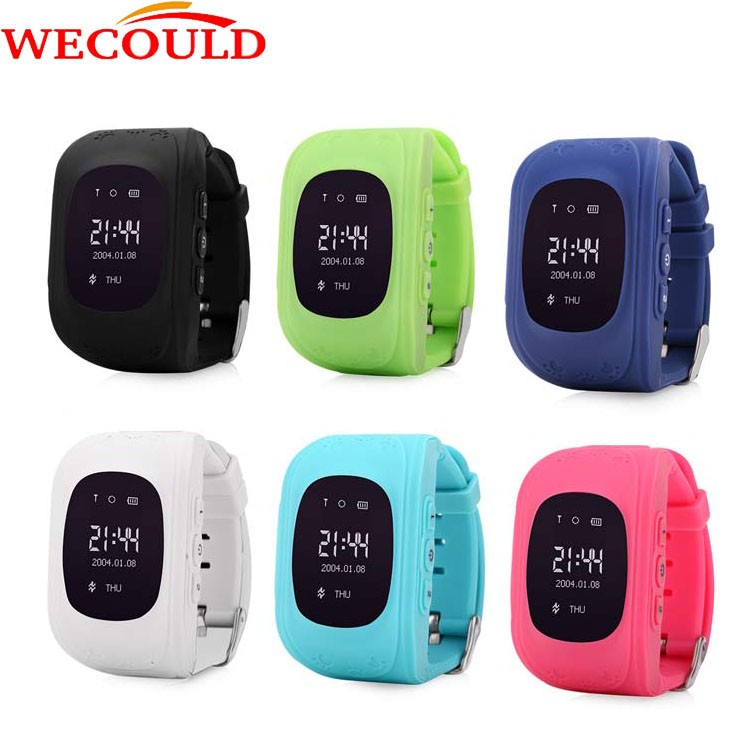 "WECOULD 0.96"" Q50 Bluetooth 3G GPS Smart Watch Kid Watch GPS +LBS Positioning"