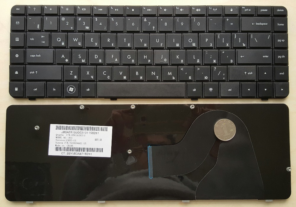 Laptop Keyboard For hp g62 cq56 g56 CQ62 RU Black Russian Layout