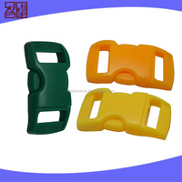Side Release plastic buckles for bags,Adjustable buckle for Webbing,curved buckle