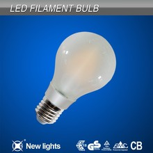 Dimmable LED Filament bulb Round Shape E27/B22 A60 A19 Frosted Glass