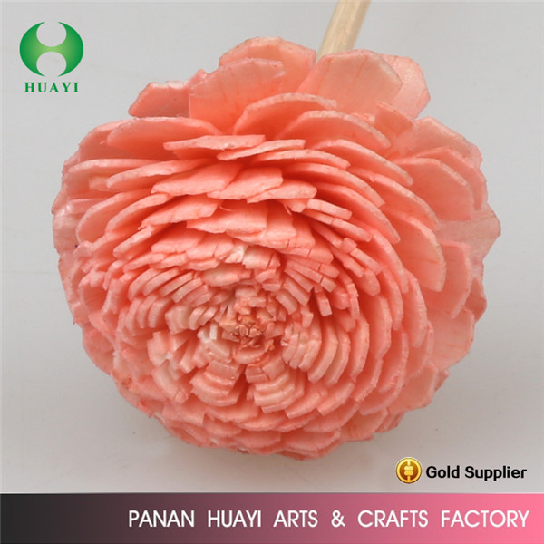 Factory wholesale natural paper flower reed diffuser for gift