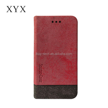 Sexy elegant leather material leather flip cover for Lenovo K6 Note , with standing function and card slots.
