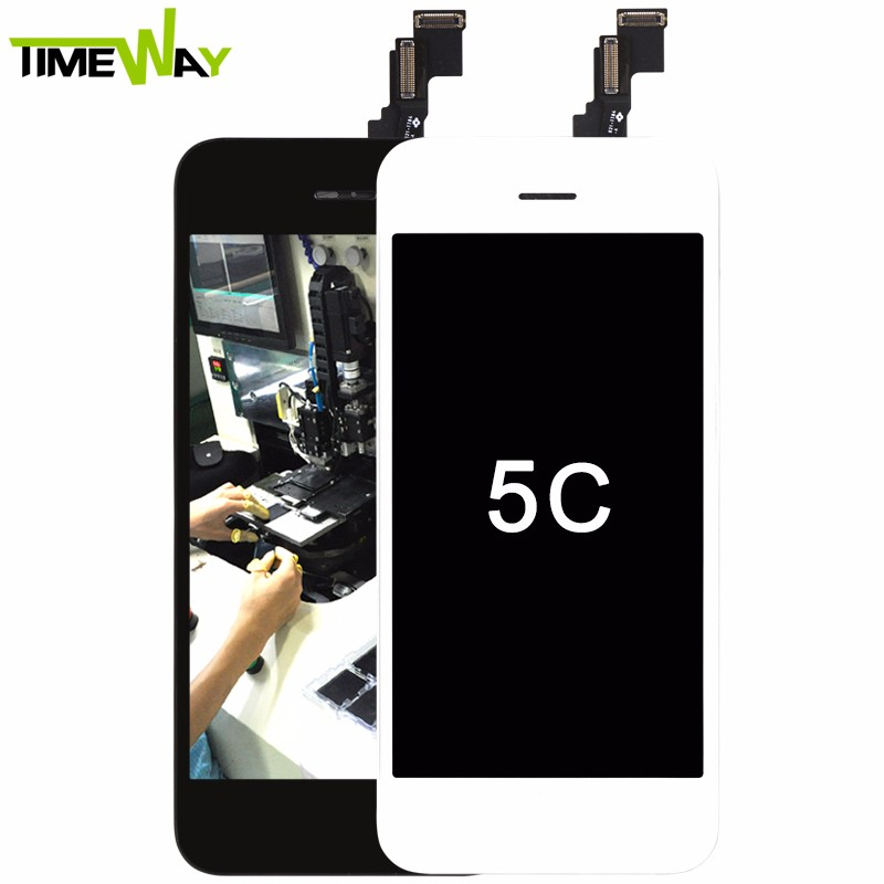 2018 Timeway China Supplier for iphone 5c <strong>lcd</strong>, for apple iphone 5c digitizer ( with home button assembly black high copy )