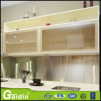 Gaidin kitchen aluminum frame profile kitchen cabinet glass door for full wall cupboards